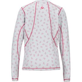Marmot Meghan T-shirt Manches longues Col ras-du-cou Léger Fille, disco pink ditzy marmot